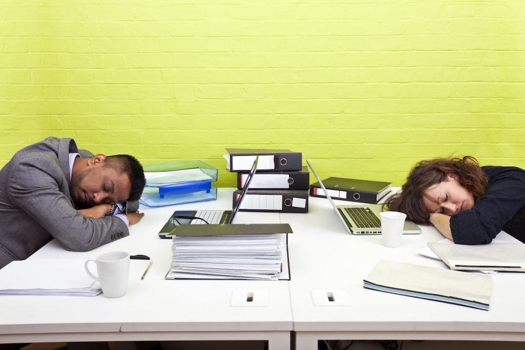 Improve work productivity with a nap
